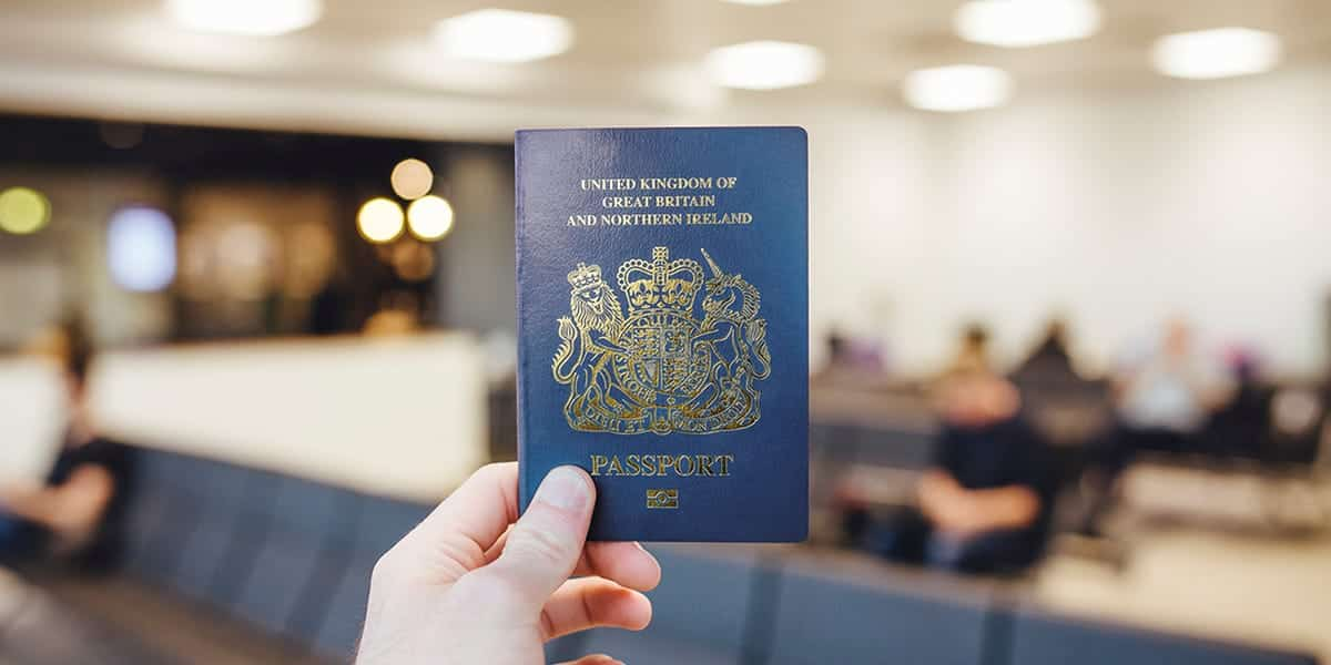 Blue British Passport