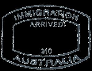 Australian Passport Stamp